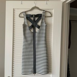 Poof Couture Striped Bodycon Dress